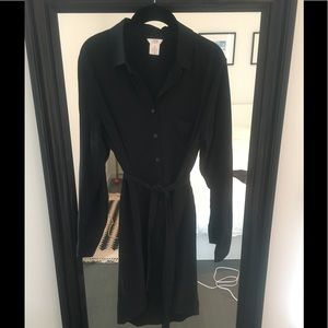 Joe Fresh silk shirt dress